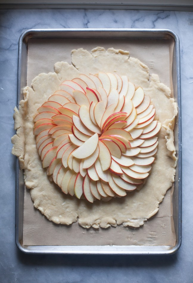 Apple Sauce Galette | ZoeBakes photo by Zoë François
