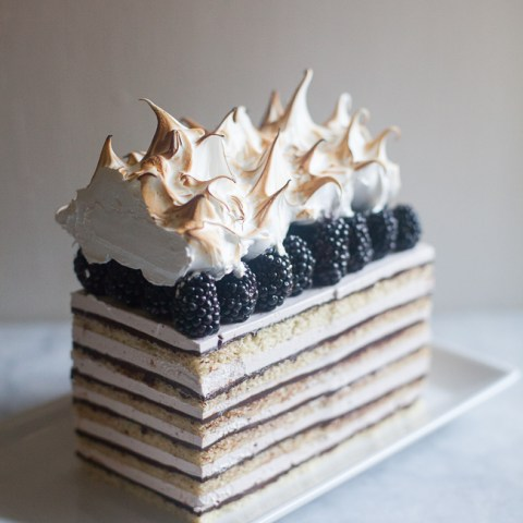 Blackberry Opera Torte | ZoeBakes photos by Zoe Francois
