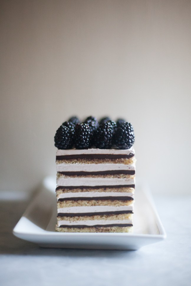 Blackberry Opera Torte (Diva Cake) | ZoeBakes photos by Zoë François