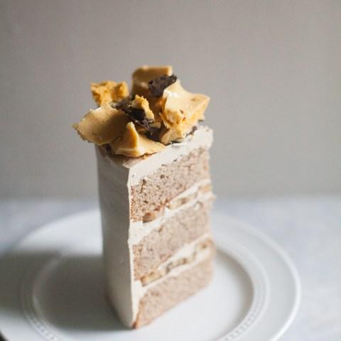 Honeycomb Banana Layer Cake