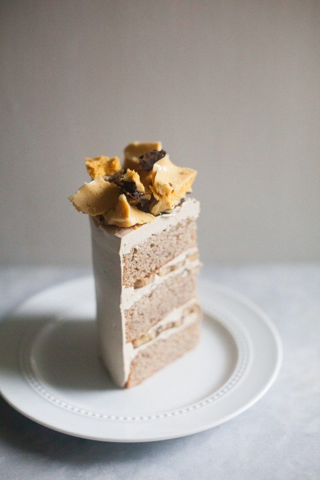 Honeycomb Banana Layer Cake | ZoeBakes photos by Zoë François