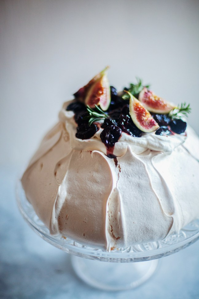 Boozy Cherry Pavlova | ZoeBakes photo by Zoë François