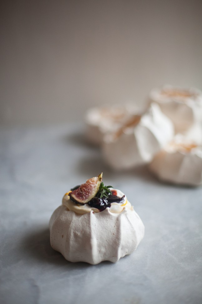 Boozy Cherry Mini Pavlova | ZoeBakes photo by Zoë François
