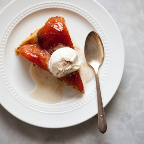 Apple Tarte Tatin with a Quick Phyllo Crust