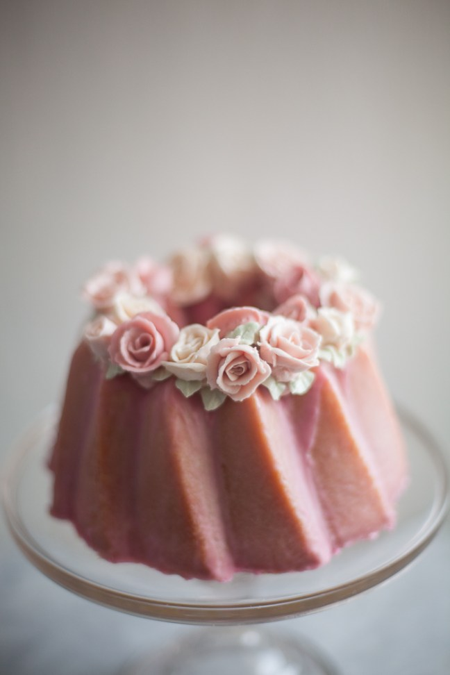 Almond Cake with Buttercream Roses | ZoeBakes photo by Zoë François