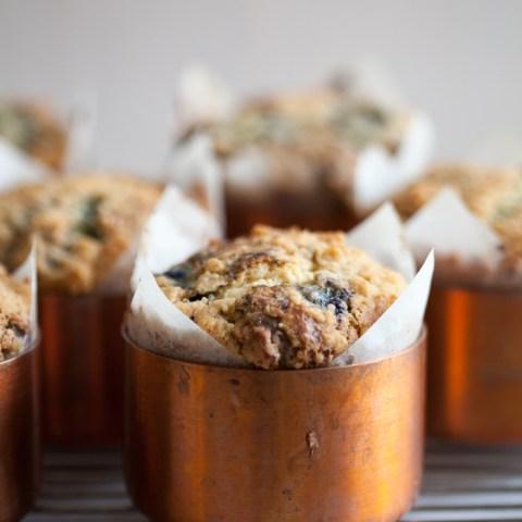 Big Blueberry Muffins | ZoeBakes | photo by Zoë François