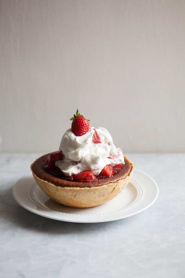 Strawberry Rhubarb Fool Cheesecake | ZoëBakes photo by Zoë François