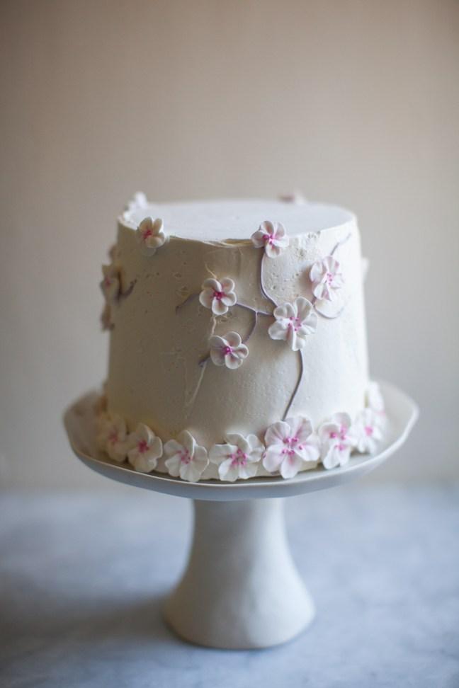 Cherry Blossom Cake | zoebakes photo by Zoë François