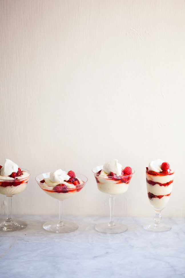 Lemon Curd Fool with Summer Berry Salsa