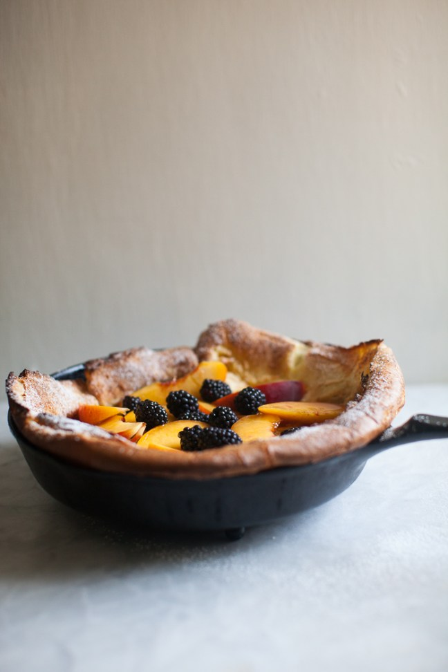 Peach Dutch Baby | ZoëBakes photo by Zoë François