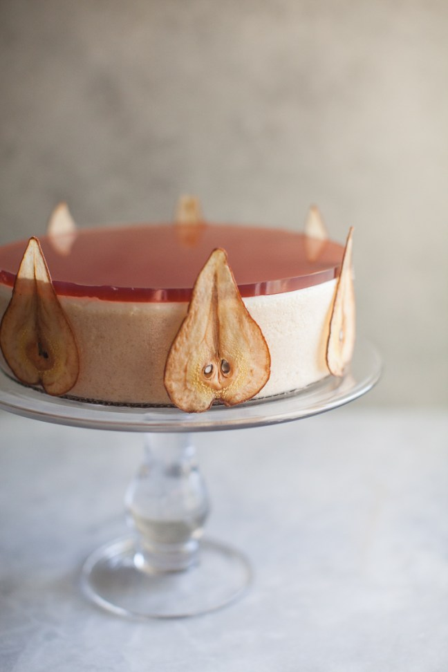 Pear Panna Cotta Cake | ZoeBakes photo by Zoë François