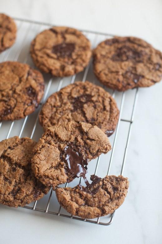 Paleo Chocolate Chip Cookies | ZoëBakes | Photo by Zoë François