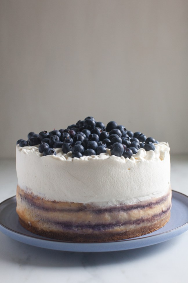 Blueberry Swirl Cheesecake | ZoeBakes photo by Zoë François