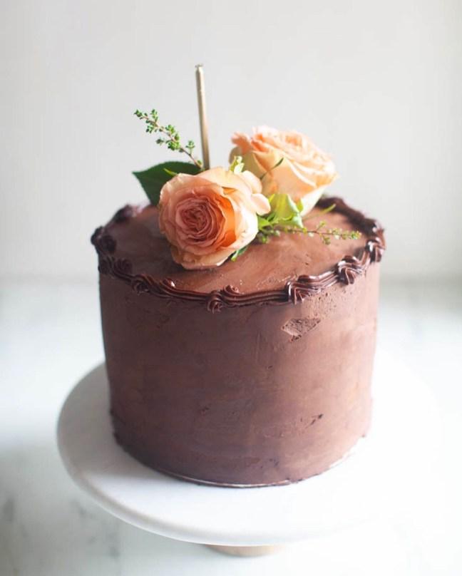 Butter Cake with Chocolate Ganache | ZoeBakes