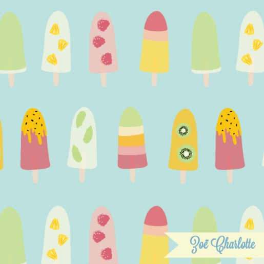 Mmmm, with this print, you can almost taste the summer! Perfect for fun accessories or kids textiles, this print is part of my Summer Holiday collection.