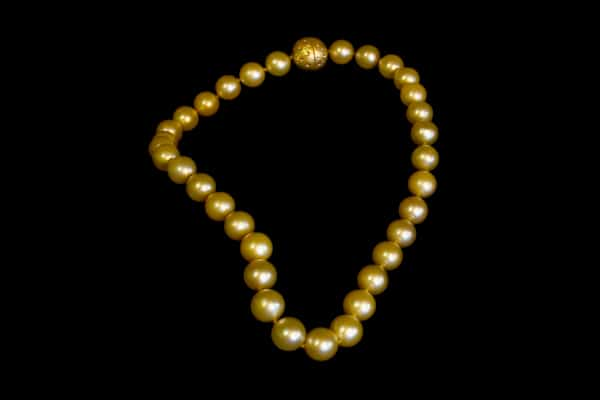 Fine Art Jewelry — Strand of Golden South Sea Pearls