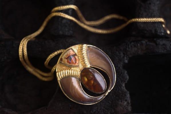 Golden Mountain Lion Necklace Photo by Shunyata
