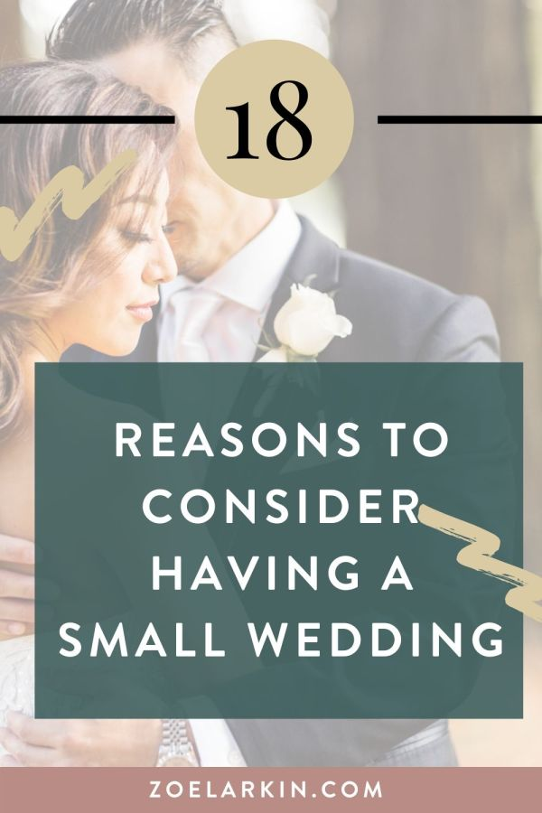 Should I have a small wedding? 🤔 Here are 18 reasons why you might consider it! With the rise of intimate weddings, there are many unique wedding ideas that honor your values and allow you to create something custom, memorable and unique. There are many small unique wedding ideas out there, from elopements to microweddings. We outline some small wedding ideas and why they may be perfect for you. #smallweddingideas #smallwedding #intimatewedding #weddinginspo | Zoe Larkin Photography