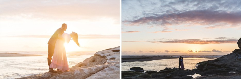 sunset engagement photography near half moon bay
