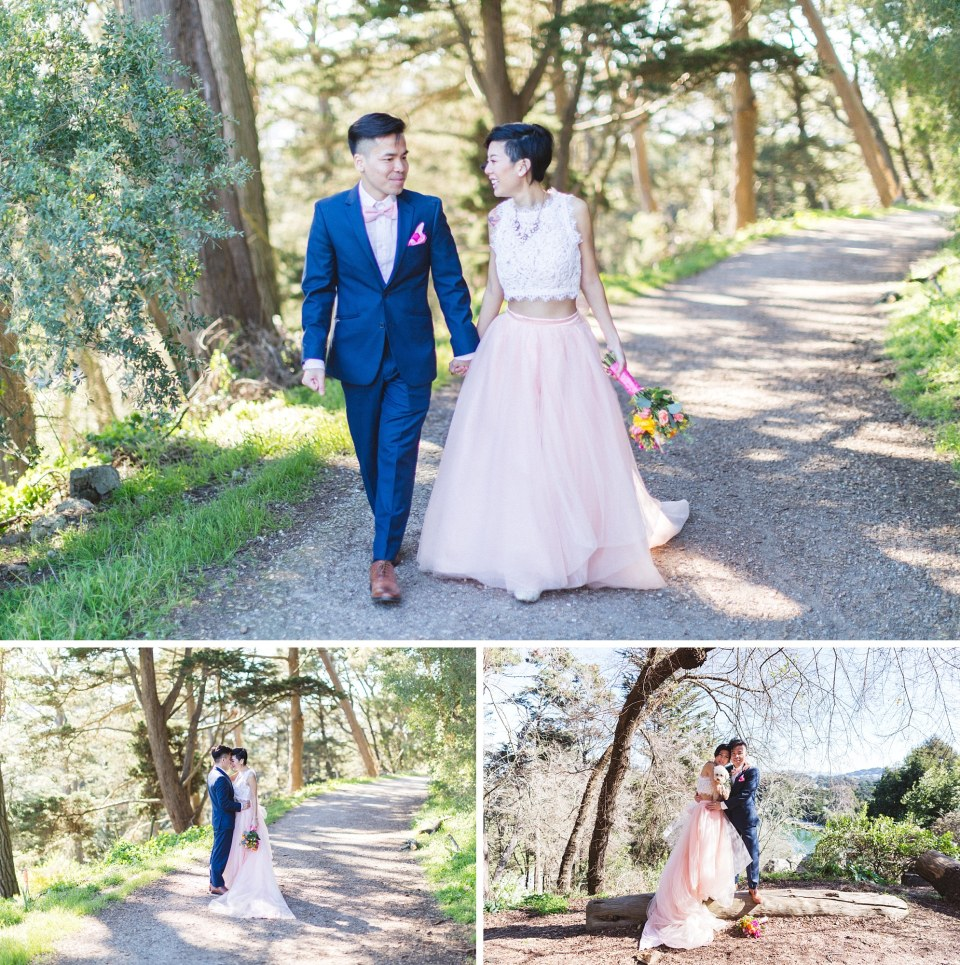 strawberry hill san francisco wedding photography couple walking