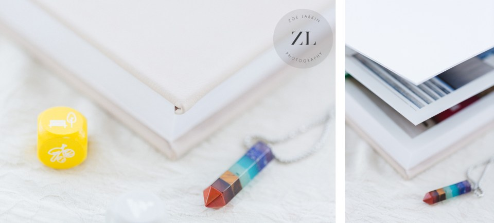 buying a wedding album with zoe larkin photography - close ups of the wedding albums