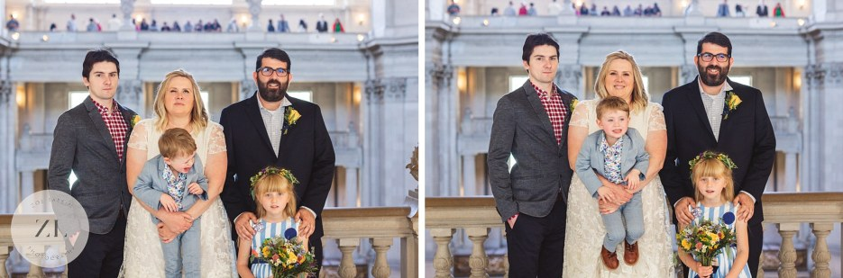 fun portraits at city hall wedding