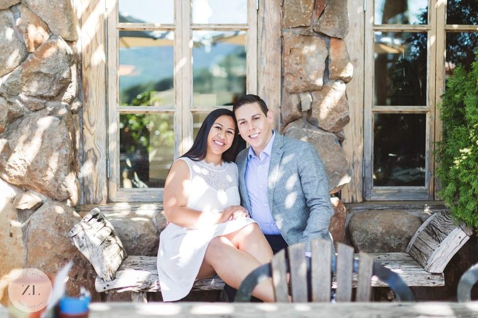 engagement photos of couple at kuleto winery