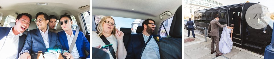 how to get around during city hall wedding