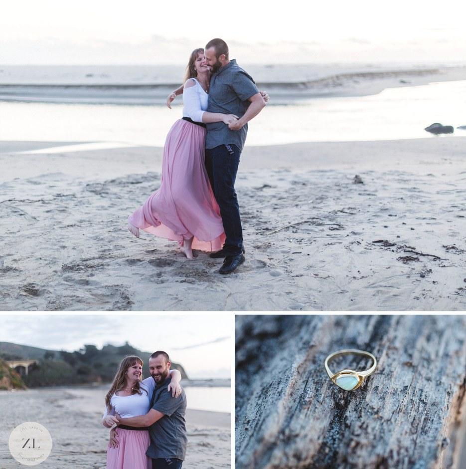 fun engagement photography near half moon bay california photography