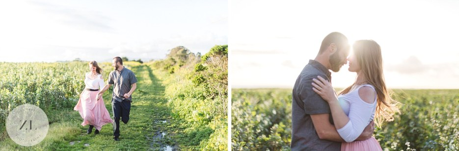 summer flower meadow in san mateo county engagement photoshoot