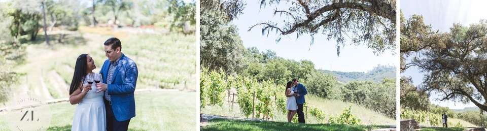 collage of winery engagement images in napa