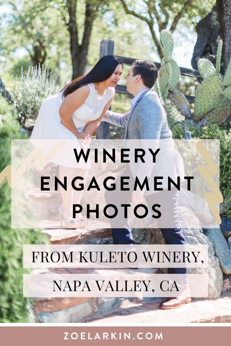Inspiration for the perfect California wine country engagement with elegance, style and a large dash of wine ;) This sweet engagement shoot was set in the pretty vines of a private estate winery tucked away in the Napa Valley of Northern California. Boasting acres of vines looking out on the valley, this shoot had all the fun, refined elegance and wine you could wish for. Oh, and a snake!  🐍 #napawinery #engagementphotos #gettingmarried #bayareaengagement #engaged | by Zoe Larkin Photography