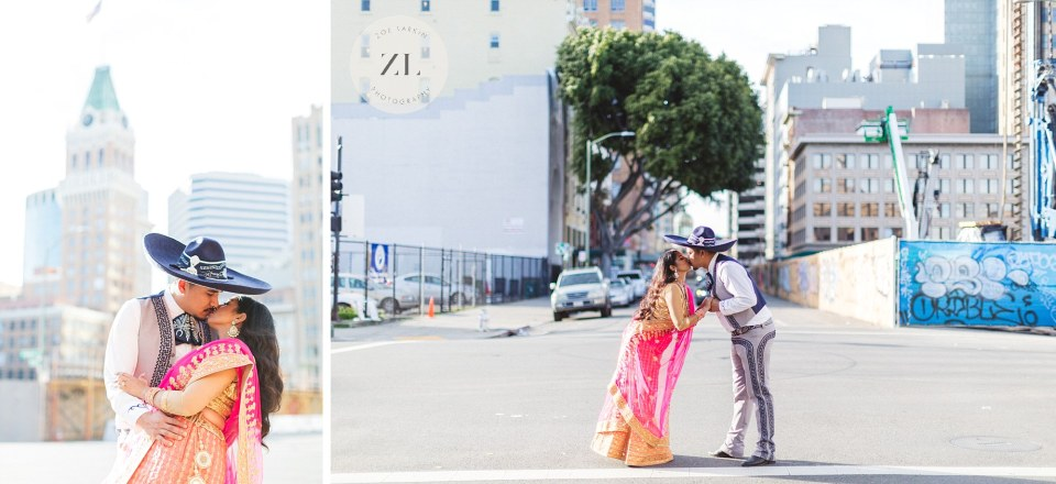 collage of couple at engagement shoot