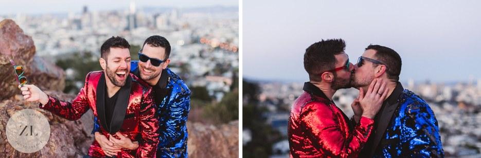 corona heights gay engagement photography