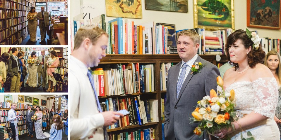getting married in vintage bookstore oakland