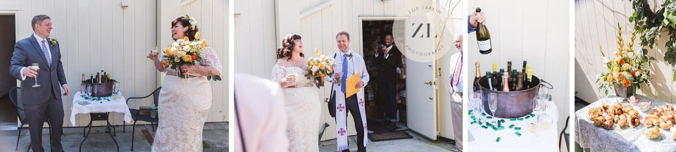 intimate wedding reception oakland