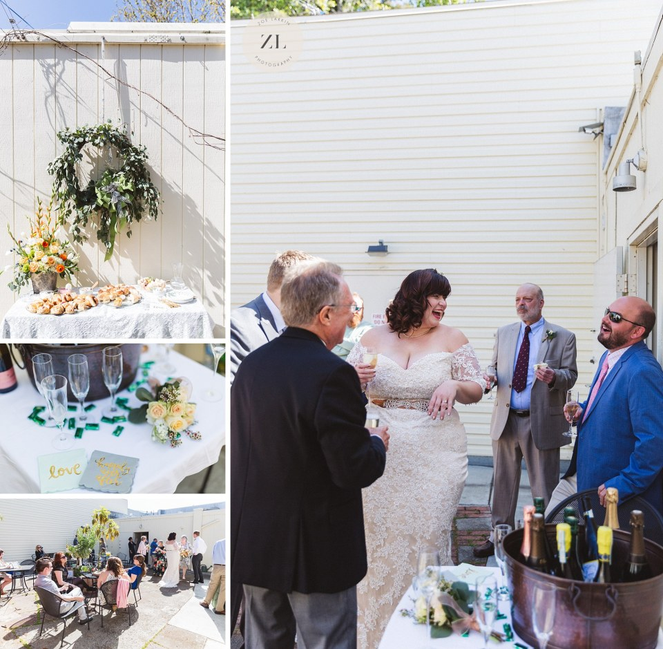 photography at outdoor oakland small wedding