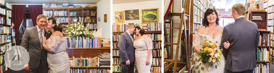 east bay bookstore wedding couples pictures