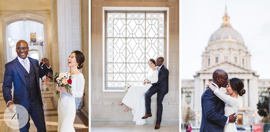 city hall wedding photography collage