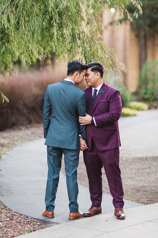 stylish same sex wedding san francisco