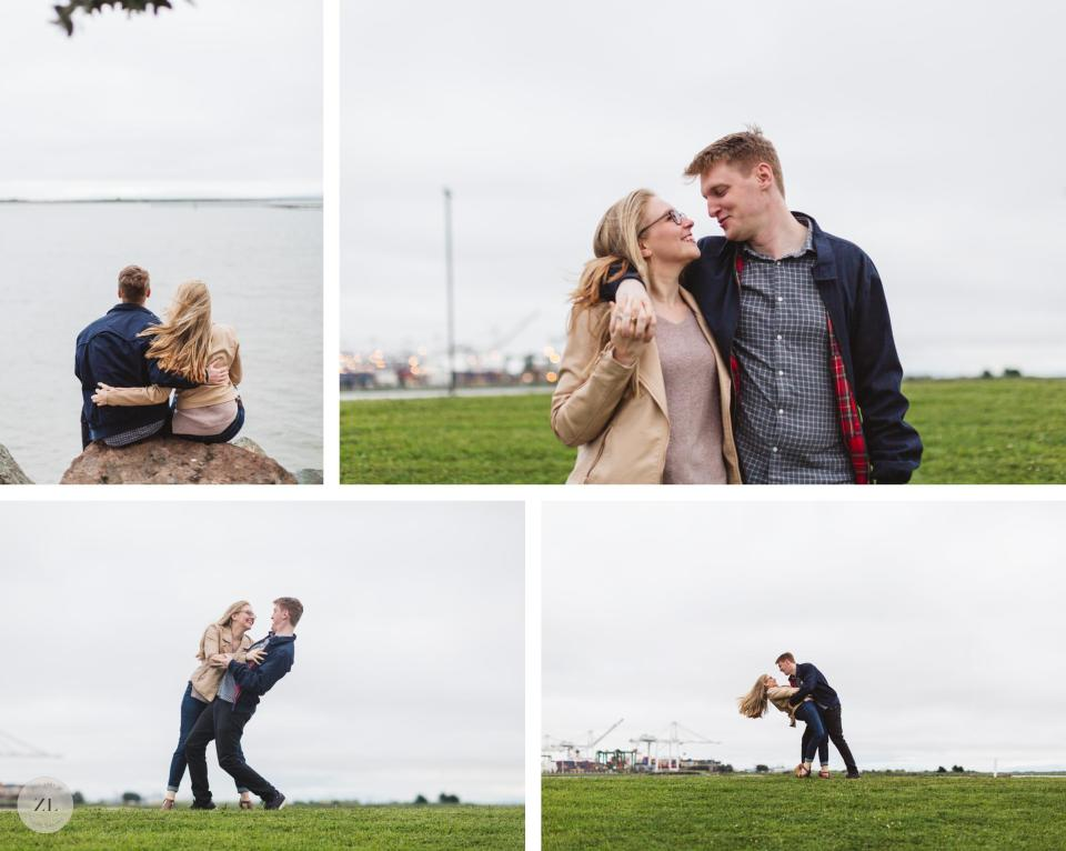 oakland engagement session at port view park and lake merritt