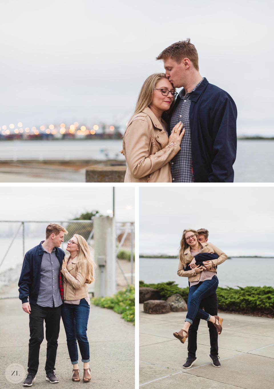 oakland lake merritt engagement photos