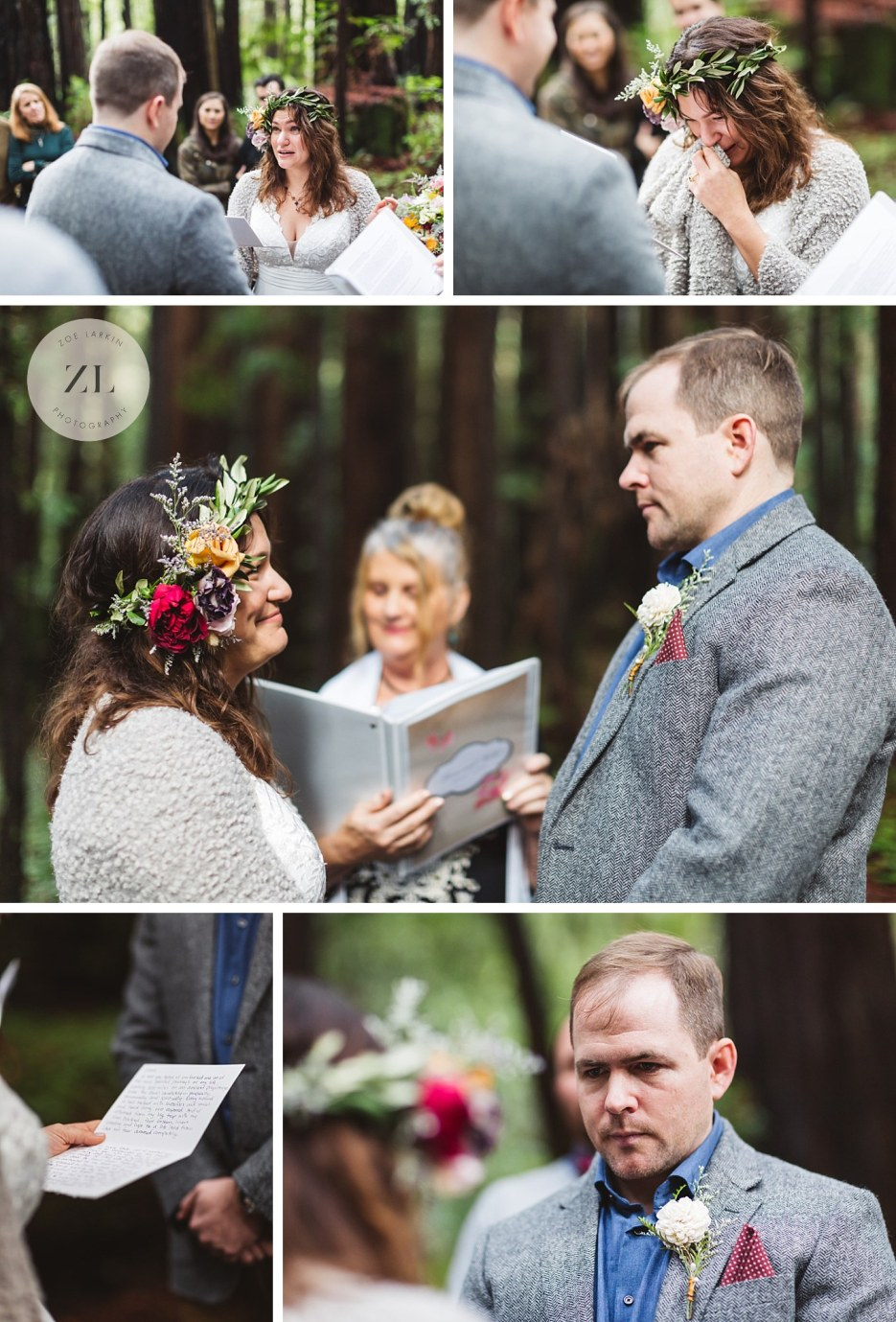 intimate redwood wedding northern california wedding photography