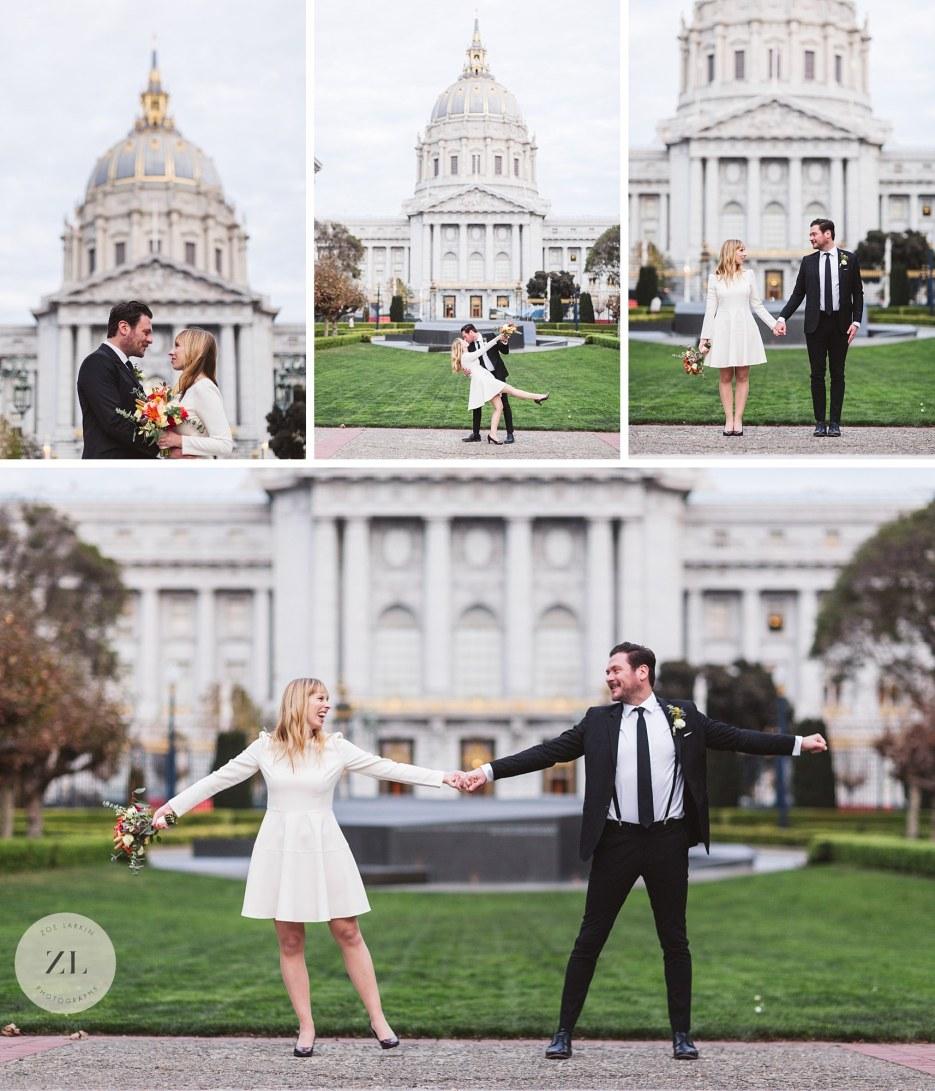 van ness back of city hall wedding photos