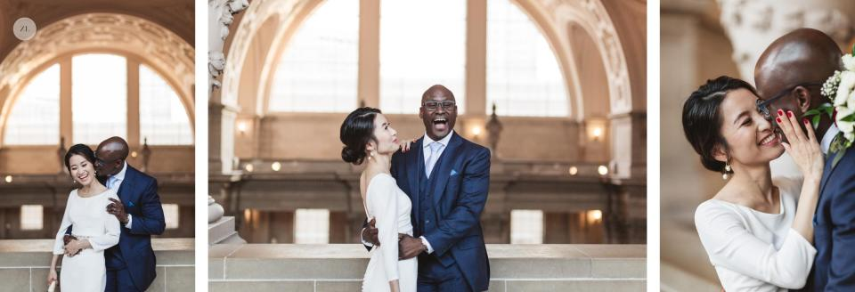 fun joyful natural couples photography at san francisco city hall