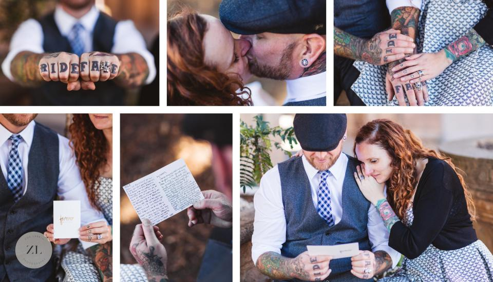 rad hip and stylish couples photography at palace of fine arts san francisco after spontaneous city hall elopement