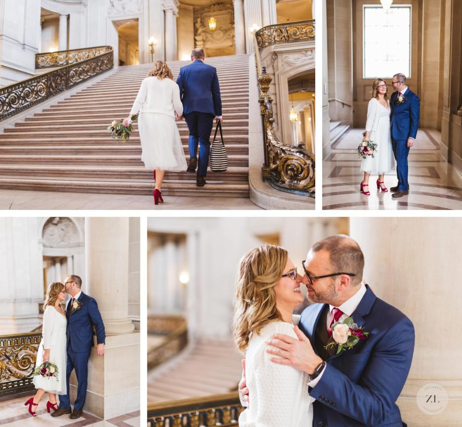 couple just before san francisco city hall elopement