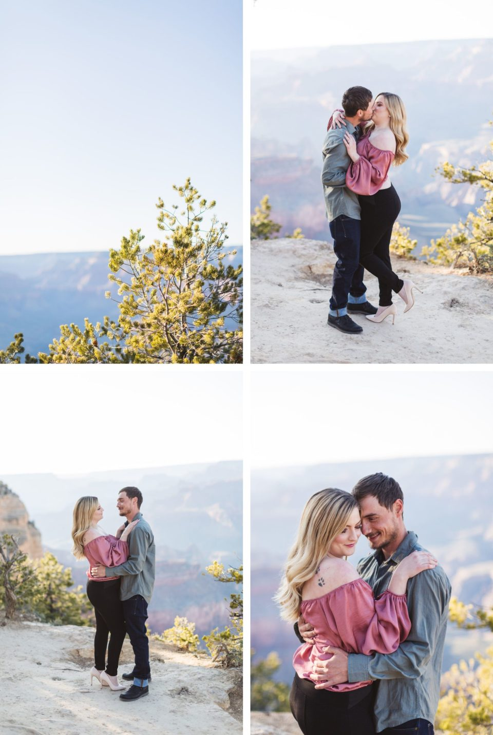 south rim yavapai point engagement photos
