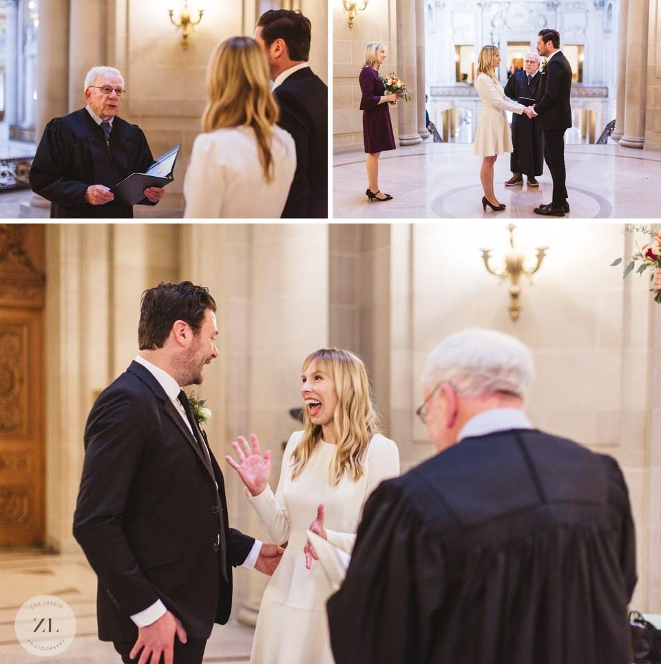 san francisco city hall rotunda wedding ceremony