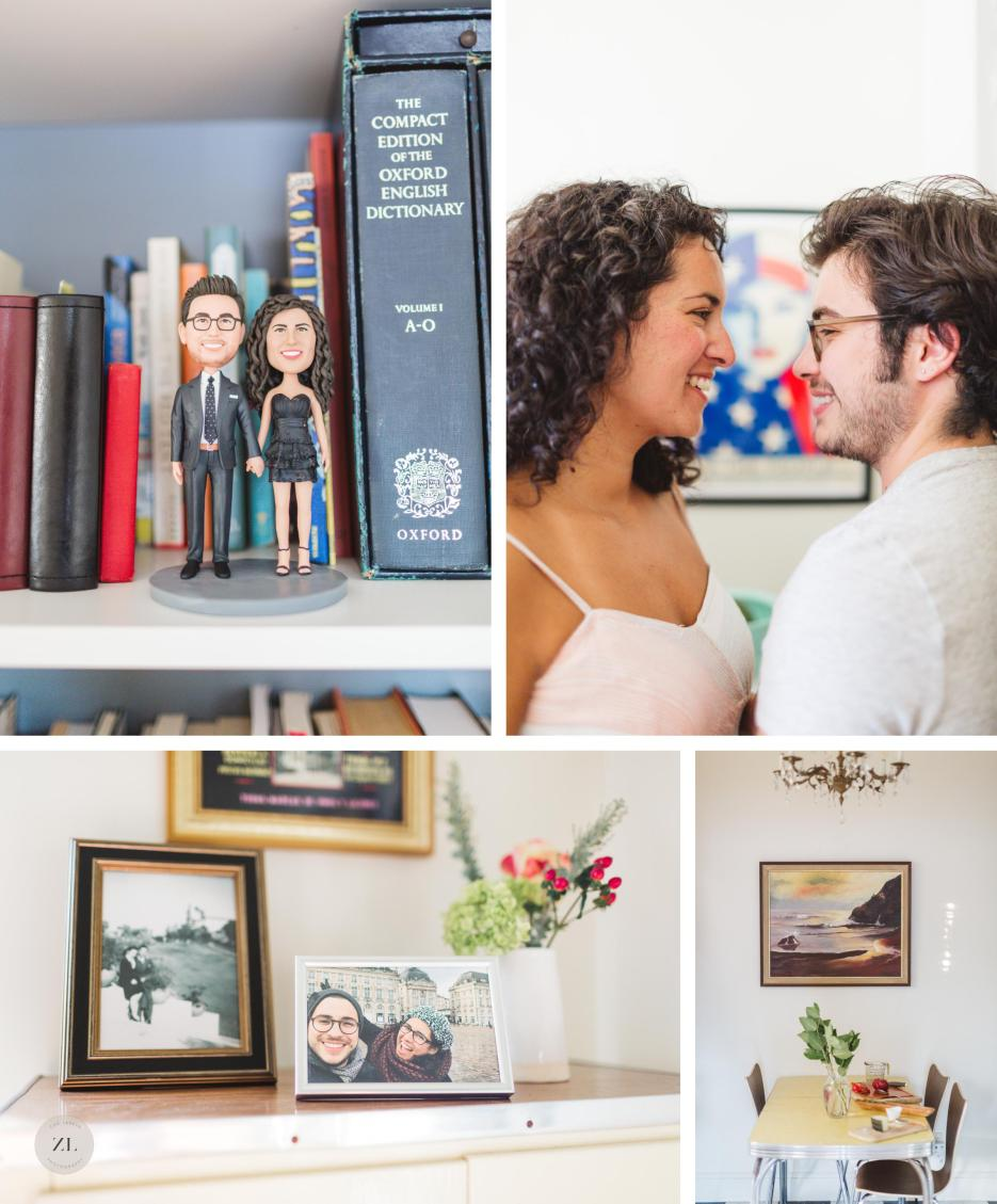 LGBTQ trans couple's beautiful oakland home during in home engagement